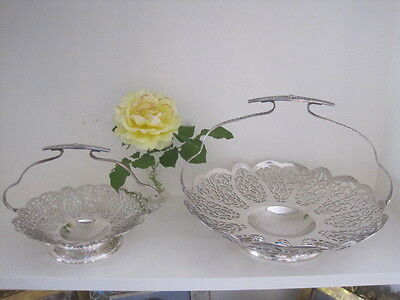 Two Vintage Paramount Rosecliffe Silverplated & Handled Servers