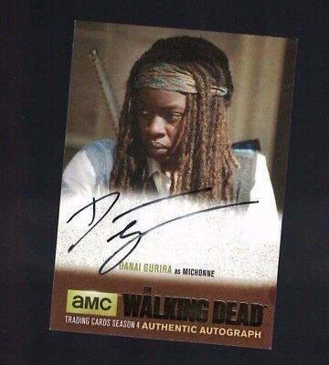 Walking Dead Danai Gurira as Michonne 2016 Topps Autographed Card