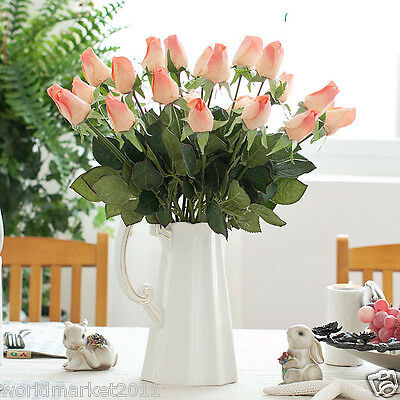 European Length 34 CM Champagne Pink Artificial Flowers/Bedroom Decoration Gift