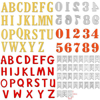 Large Alphabet Letters A-Z & Numbers 0-9 Cutting Dies Stencils DIY Scrapbooking