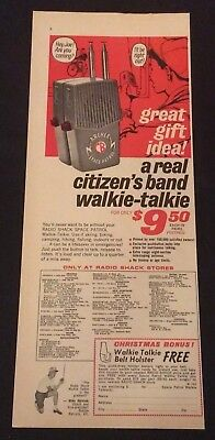 1965 Radio Shack Print Ad - Archer Space Patrol - Citizen'S Band Walkie-Talkie