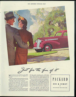 Just for the fun of it Packard Six or Eight ad 1938
