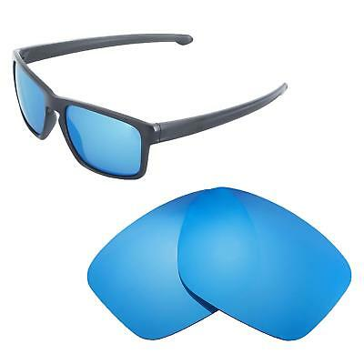 c85f7a07aa New Walleva Ice Blue Polarized Replacement Lenses For Oakley Sliver  Sunglasses
