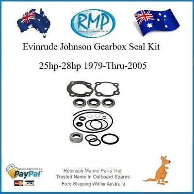 A New Gearbox Seal Kit Evinrude Johnson 25hp-28hp 1979-Thru-2005  # R 396352