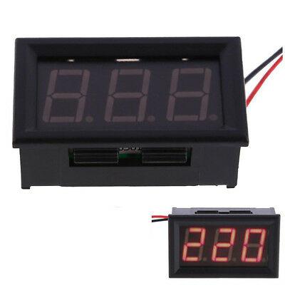 Good Stability AC 60-500V Voltmeter Two-wire Digital 220V Voltage Meters RED US