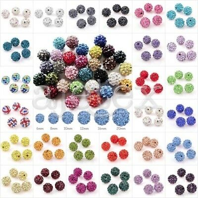 5-20Stk Kristall Strasssteine Disco Ball Beads Perlen Schmuck 6-20mm Hot