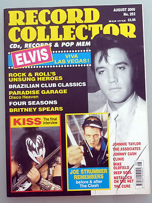 Record Collector August 2000 Elvis Presley Britney Spears Kiss Four Seasons