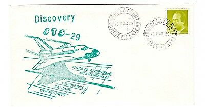 Shuttle 29 Spain Emergency Landing Tracking & Support Souvenir Envelope