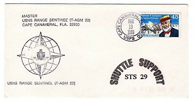 Shuttle 29 USNS Range Sentinel Rescue Support Souvenir Envelope