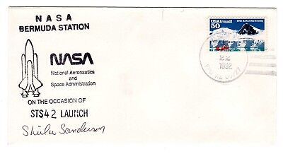 Shuttle 42 NASA Bermuda Tracking & Support SIGNED Souvenir Envelope