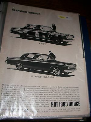 vintage 63 dodge original magazine print wolf in street clothing
