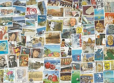 Greece Very Big Collection Of  500 Used Diferent Stamps Drx.and Euro