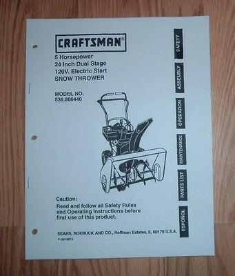 craftsman front tine tiller 55hp 24 manual
