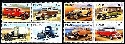 Iceland 2 X Blocks Of 4 Post Office Transport (46) Mint Never Hinged