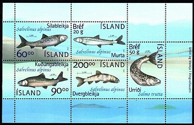 Iceland Fishes S/s (49) Mint Never Hinged