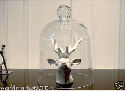 European Style New Classical Delicate Glass Jar Deer Head  Decoration Gift