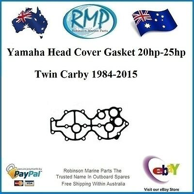 A New Head Cover Gasket Yamaha 20-25hp Twin Carby 1984-2015 # R 6L2-11193-A1