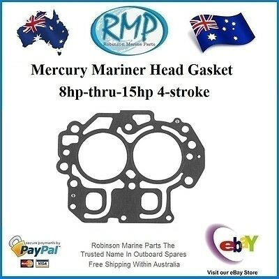 A New Head Gasket Suits Mercury Mariner 8hp-thru-15hp 4-stroke # R 27-850836