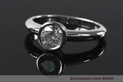 Ring Rom 950 Platin Solitär Diamant Brillant 1,05 CT WERT: 8370,- EURO