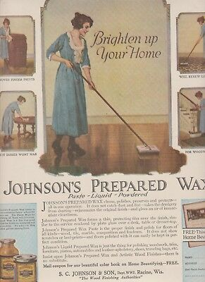 1920 2 Ads Johnson Wax-Patches-Back Ads Free Shipping In U.s