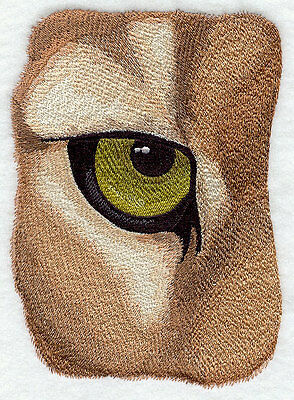 Large Embroidered Zippered Tote - Eye of the Cougar F6895