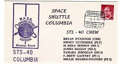 Shuttle 40 NASA Comm Network Madrid Spain Tracking & Support Souvenir Envelope