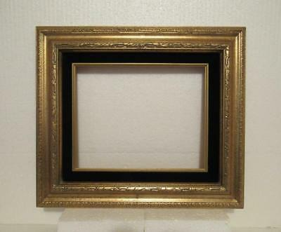 Vtg Gold Carved Wood Wall Frame Picture Photo Painting Mirror Velvet Liner 8x10""