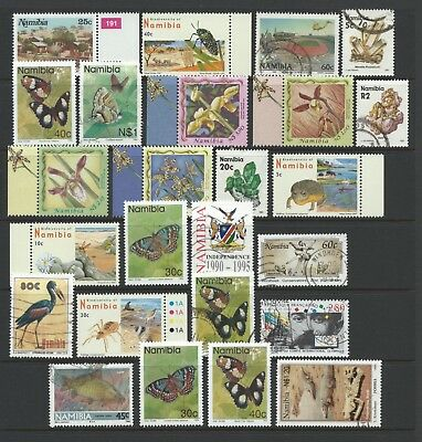 Namibia - selection of used/mint stamps on stock page, as scan - Ref 880