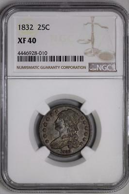 1832 Capped Bust Quarter XF40 NGC 25c US Mint Silver Coin