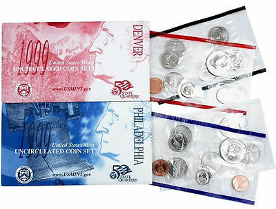 1999 P & D US Mint Uncirculated Coin Set