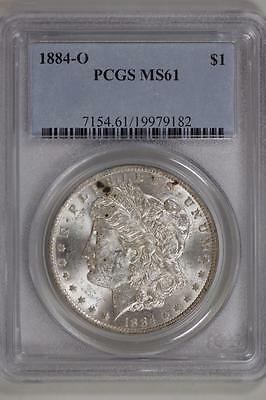 1884 O Morgan Silver Dollar MS61 PCGS United States Mint Coin