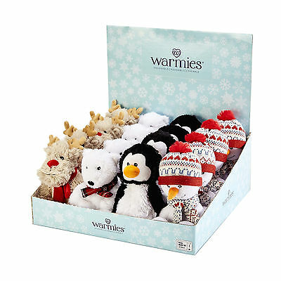 Warmies Mini Cozy Plush Microwavable Bedtime Xmas Themed Teddy Heatable Teddy