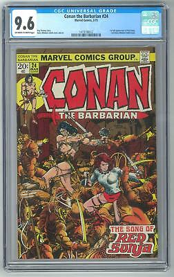 Conan the Barbarian #24 CGC 9.6 (OW-W) 1st Full Red Sonja Appearance