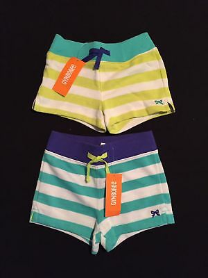 NWT Gymboree Girls Everyday Favorites Striped Knit Shorts Two-Pack Size 4 & 6