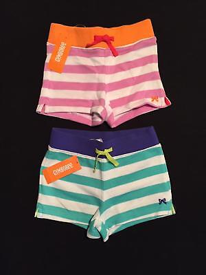 NWT Gymboree Girls Everyday Favorites Striped Knit Shorts Two-Pack Size 4 5 & 6
