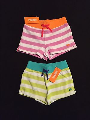 NWT Gymboree Girls Everyday Favorites Striped Knit Shorts Two-Pack Size 5 & 6