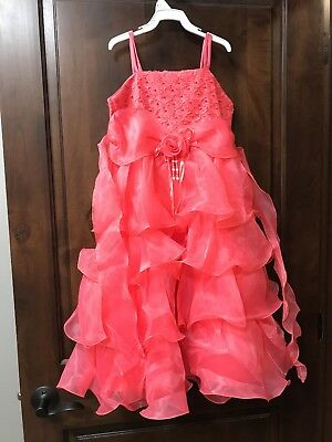 brand New With Tags Girls 8/9 Coral Dress