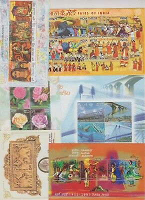 India Modern 2000-10 Selection 33 Mini Sheets UM