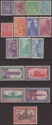 India Modern 1949-52 SG309-324 Archaeological Set 16 UM/VLMM CV£325