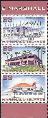 Marshall Islands 1998 Tourism/Commerce/Buildings/Architecture/Trees 3v set b528a