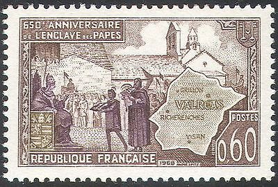 France 1968 Papal Enclave, Valreas/Popes/Buildings/Architecture/Maps 1v (n41900)