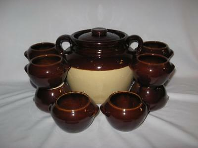 Vintage Mccoy Bean Pot With Ten Individual Bean Bowls - Heinz Made By Mccoy