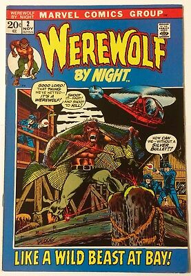 WEREWOLF BY NIGHT #2 Cents Cover FN Marvel Comics (1972)
