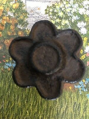 Cast Iron Rustic Brown Flower Cabinet Knobs Lot of 2 FREE SHIPPING