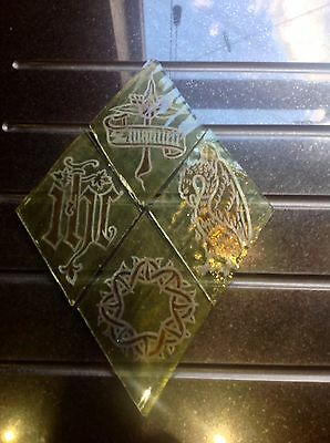 Set 5, Victorian Stained Glass Quarry's From A Church Window Circa 1880, VGC.