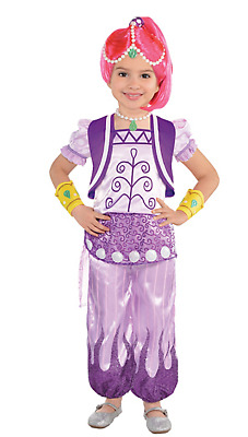 NEW Nickelodeon Shimmer and Shine Costume Dress Up Purple Outfit Pink Wig