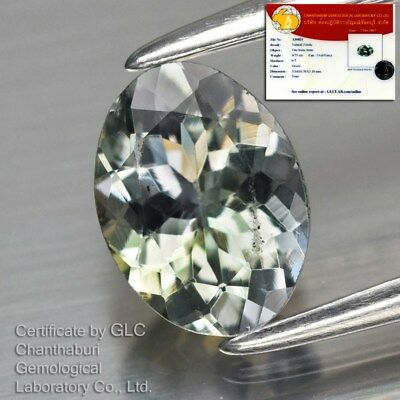 0.73ct 6.7x5mm VVS Oval Natural Unheated Green Zoisite Tanzanite *GLC Certified