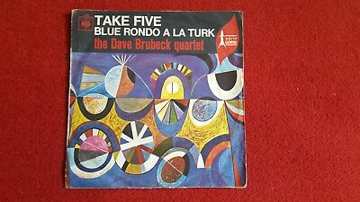 "7"" The Dave Brubeck Quartet - Take Five! 1972! Kultsong Latin Jazz, Cool Jazz!"