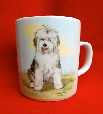 NEW NEVER USED Great Gift! Old English Sheepdog Signed Mug from England 1984