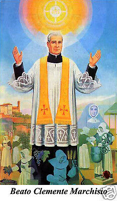 Santino Holy Card Tela Canvas Beato Clemente Marchisio